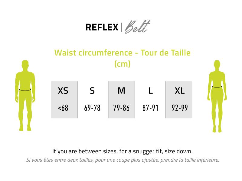 Reflex Belt Sizing Guide